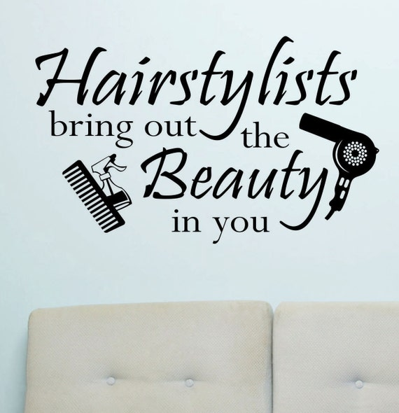 Hairstylist Quotes: Hairstylists Bring Beauty Vinyl Wall Lettering Vinyl Wall