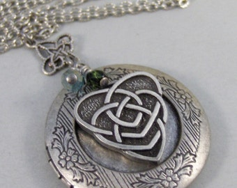 Mothers Heart,Celtic Necklace,Celtic Locket,Irish Necklace,Irish Locket,Mothers Necklace,Mothers Locket,Heart Necklace valleygirldesigns