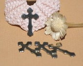 Nickel Silver Fleur de Lis Religous Cross 22mm x 13.5mm Blank CutOut Shape for Stamping Texturing Jewlery Making Blanks