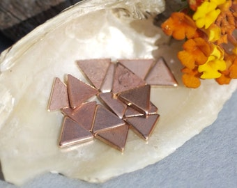 Copper Triangles Blank 6mm 22g for Enameling Stamping Texturing Soldering Blanks