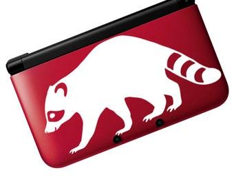 "Raccoon Decal / Raccoon Laptop Sticker / Raccoon Window Sticker / Raccoon Car Decal / Raccoon Game System Sticker / 2""h x 4.25""w /  #438"