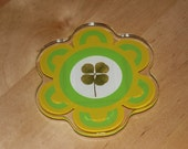 Real four Leaf Clover Magnet Good Luck for St. Patrick's Day