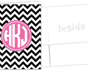 Monogrammed Pocket Folder - Sorority Folder - Design Your Own