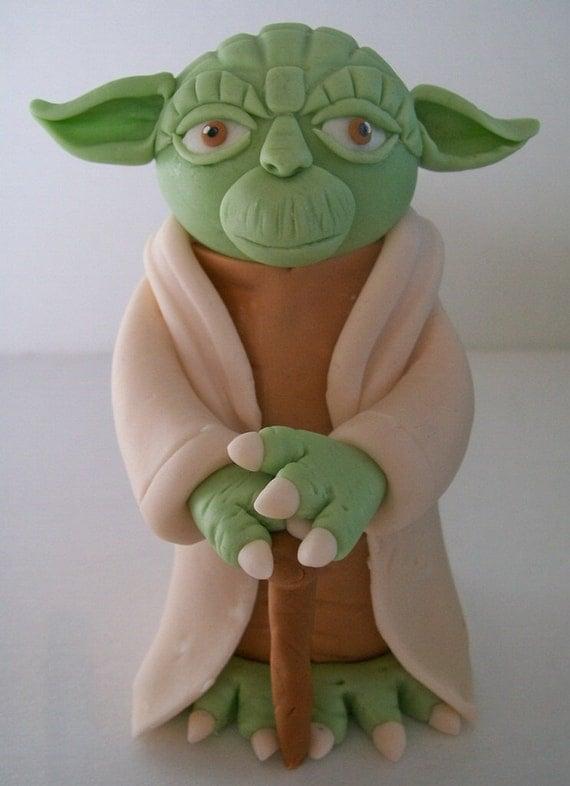 Fondant Yoda Cake Topper