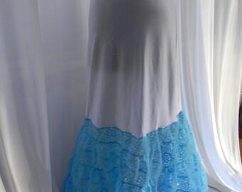 Pool blue mermaid crinoline slip