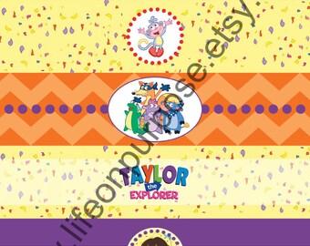 Dora Birthday Party Water Bottle Labels