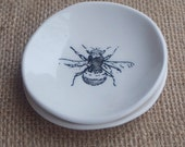 Handmade Porcelain Dish Set, Honey Bee by Mrs Peterson Pottery