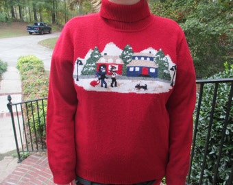 Red christmas sweater, christmas sweater, holiday sweater, tacky christmas sweater, tacky holiday sweater, Cozy sweater,