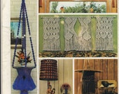 Macrame Home Decor Instruction Pattern Book - Macrame Lampshade Pattern