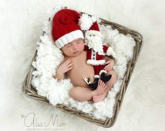 Newborn photo prop, newborn hat, newborn boy, newborn girl, knit newborn hat, newborn props, Newborn santa hat