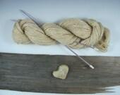 Eco-Friendly Rustic Natural Vegan Handspun Hemp Fiber Yarn, 289 or 311 Yards You Choose, 2 Ply, Simple Neutral
