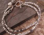 Sterling Silver Mother's Name Bracelet - Custom Order for Holly