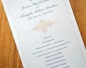 Wedding Ceremony Program Card (Jessica Collection) - SAMPLE