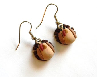 Turkey Dangle Earrings - Thanksgiving Holiday Jewelry - Fall Autumn Winter Themed - Handmade with Polymer Clay - Gifts Under 20, 25