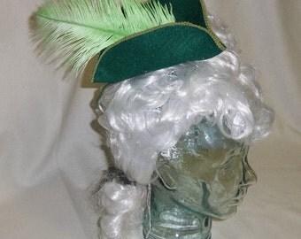 Pirate Hat Fascinator- Green Mini Tricorn Hat
