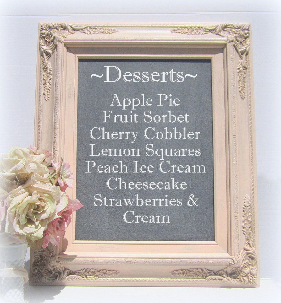 Chalkboards For Weddings: DECORATIVE WEDDING CHALKBOARDS For Sale White By