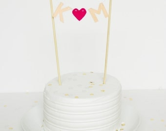 Custom Initials Cake Topper- MADE TO ORDER