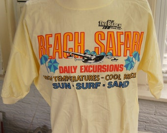 t shirt (vintage) The Beach Waterpark in Mason, OH Safari new with tags (46 inches around chest)