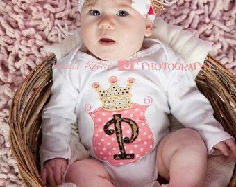 Royal Princess Alpha Onesie and OTT Bow