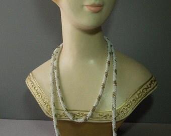 Vintage Flowers Lariat Necklace