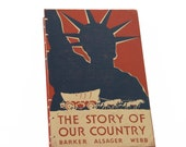 1948 OUR COUNTRY Vintage Lined Notebook Journal