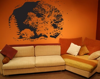 Vinyl Wall Decal Sticker Cave View OSDC659s