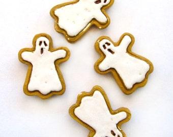 Large Peruvian Ceramic Ghost Cookie Beads