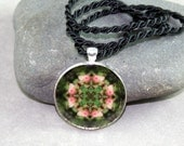 Flower Pendant Necklace Boho Chic Mandala New Age Sacred Geometry Hippie Kaleidoscope Picture Perfect