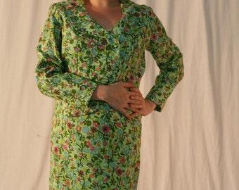 NOS Vintage 60s Suit: Floral Suit