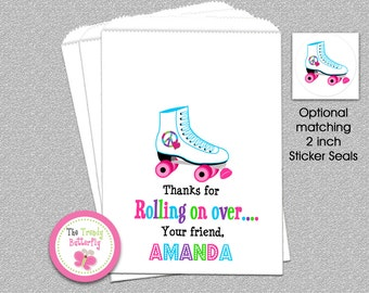 Rollerskating Party Favor Bag , Candy Favor Bags, Party Favor Bag