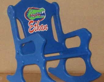 Child's Rocking Chair -Gators- - toddler