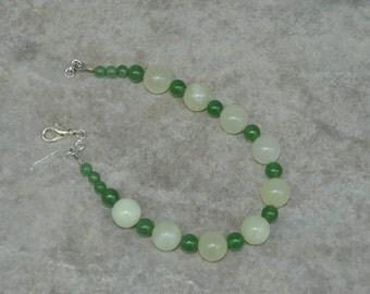 Bracelet, New Jade, Green, Aventurine, bead bracelet, beaded bracelet, handmade jewelry, handmade bracelet, gift for her, simple bracelet