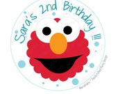 Elmo stickers, Party Personalized Elmo Inspired PRINTED round Stickers, tags, Labels or Envelope Seals  A813