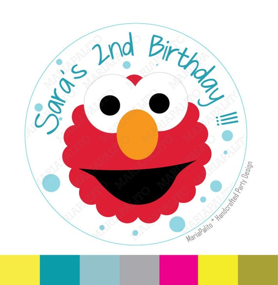 Elmo Birthday Party Ideas to create the perfect Elmo Birthday Party by MariaPalito Elmo stickers, Party Personalized Elmo Inspired PRINTED round Stickers, tags, Labels or Envelope Seals A813