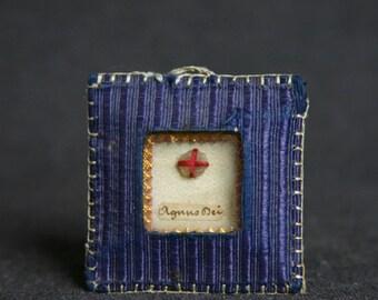 Agnus Dei. Precious antique relics.