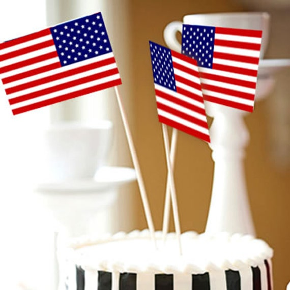 Items similar to american flag cake toppers on etsy for American flag cake decoration