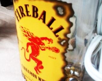 Bottle Lamp - Fireball Cinnamon Whiskey Lamp