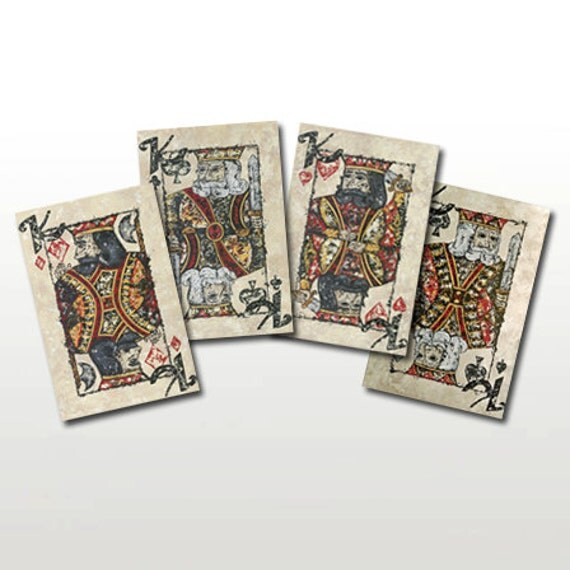 CLEARANCE King of Cards Limited Edition Signed Prints - Perfect for Card Players or Game Players - by Britt Hallowell