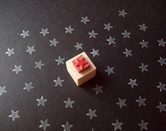 Mini Star Rubber Stamp - Star Patterns and Borders Chore Chart Hand Stamp