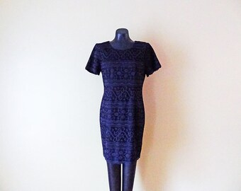 Womens Vintage Little Black Dress size Medium Cocktail Dress LBD