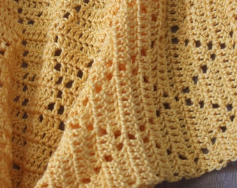 Made to Order -- Crochet Baby Afghan, Diamond Pattern
