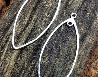 Sterling Silver Teardrop Marquise Earring Finding Sterling Silver Jewelry Supplies