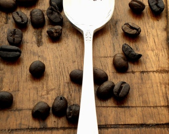 Wanna Grind - Coffee Lovers Anniversary Wedding Honeymoon Gift - The Original Hand Stamped Vintage Coffee Spoons by Sycamore Hill