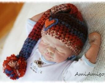 Crochet Pixie Hat (Newborn)