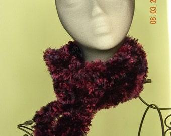 Shades of Purple Fuzzy Neck Scarf, Neckwarmer