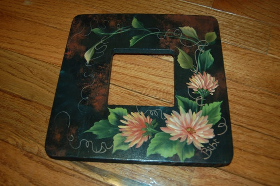 Items Similar To Picture Frame Hand Painted Pink Mum