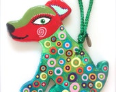 Colorful Dog Ornament