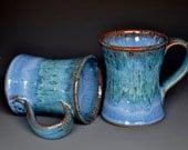 Aqua Blue Mug Ceramic Coffee Cup