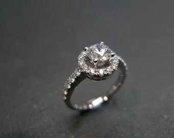 Wedding Diamond Band Ring in 14K White Gold