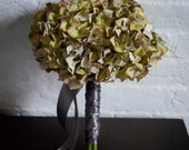 Moss Green Hydrangea Wedding Bouquet